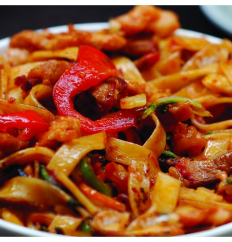 Chicken Malaysian Flat Noodles